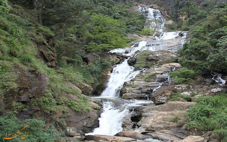 آبشاری بلند در سریلانکا