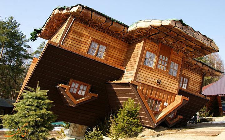 خانه ای کاملا برعکس در لهستان