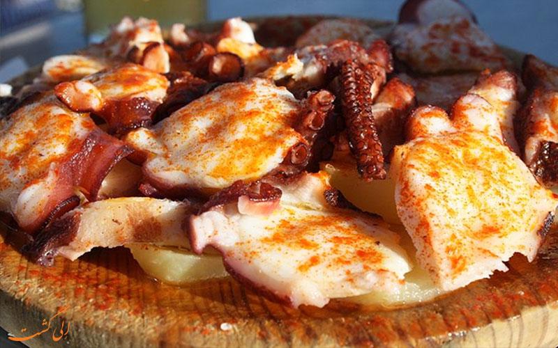 هشت پا- غذاهای معروف اسپانیایی