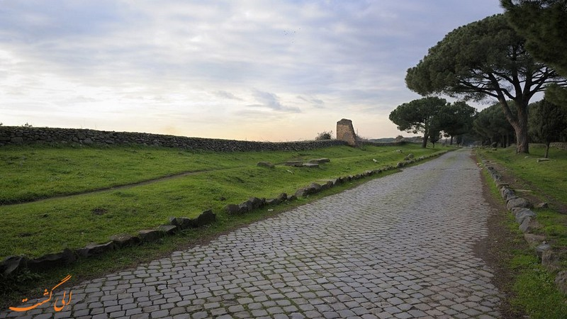 عکس جاده آپیان رم