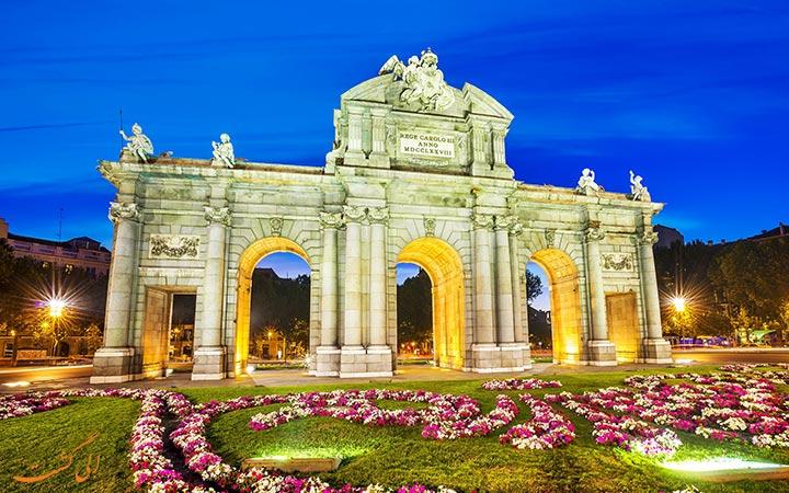 دروازه شهر مادرید کشور اسپانیا