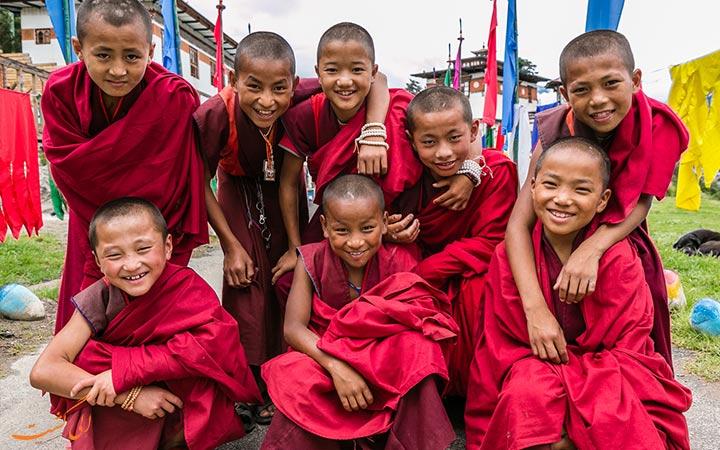 کودکان خوشحال بوتان
