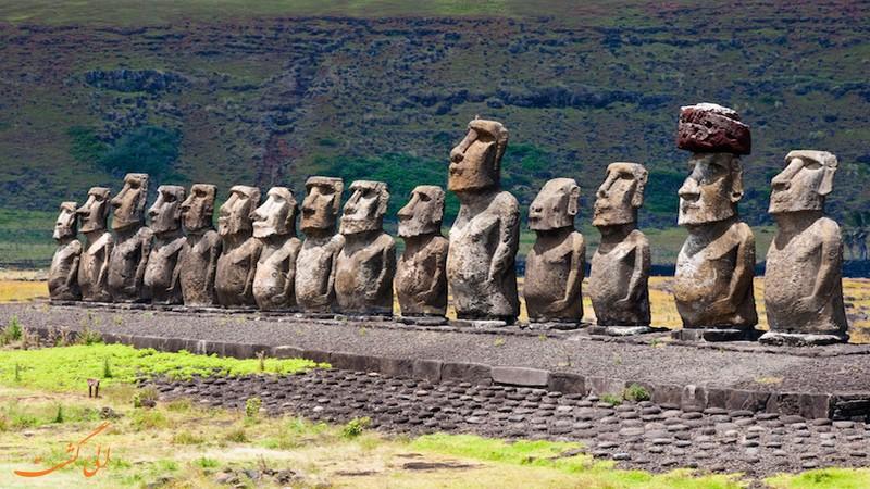 مجسمه های جزیره ایستر در شیلی
