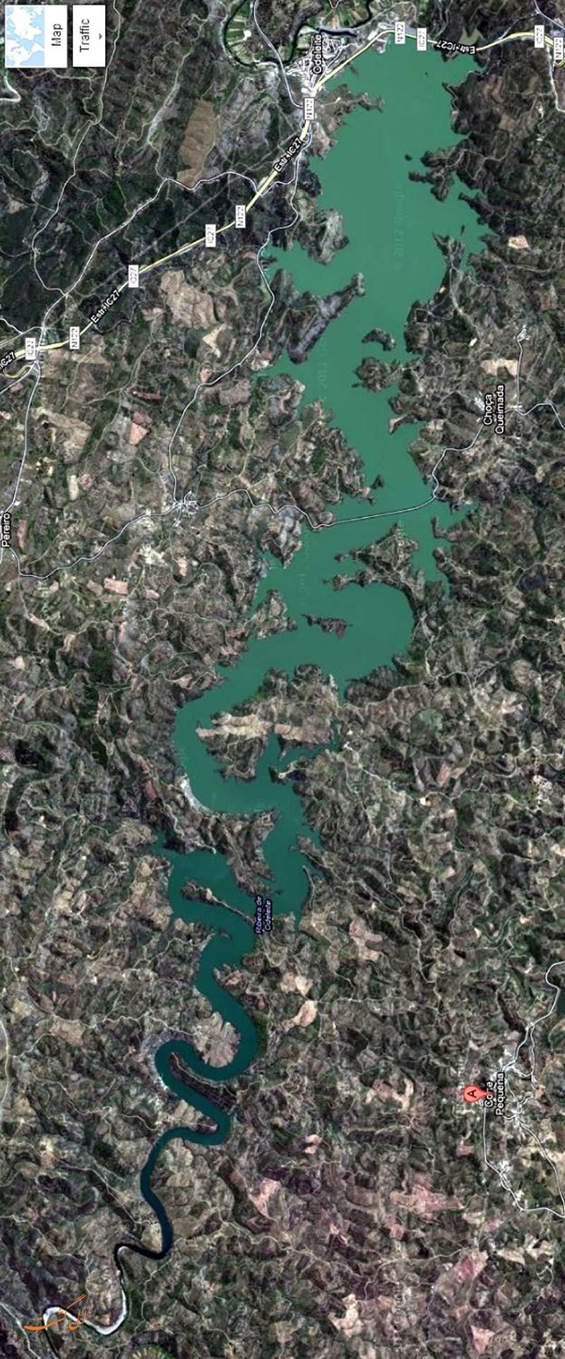عکس ماهواره ای رودخانه اژدهای آبی