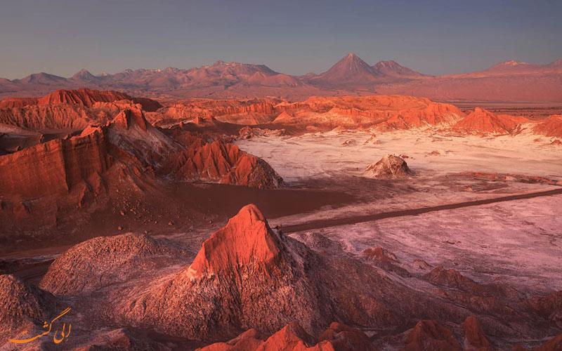 بیابن دره ماه در شیلی