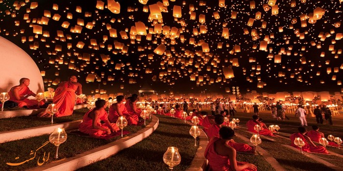 فستیوال فانوس در چیانگ مای تایلند