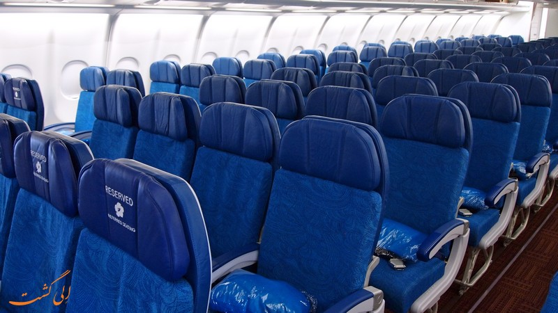 رنگ صندلی های هواپیما