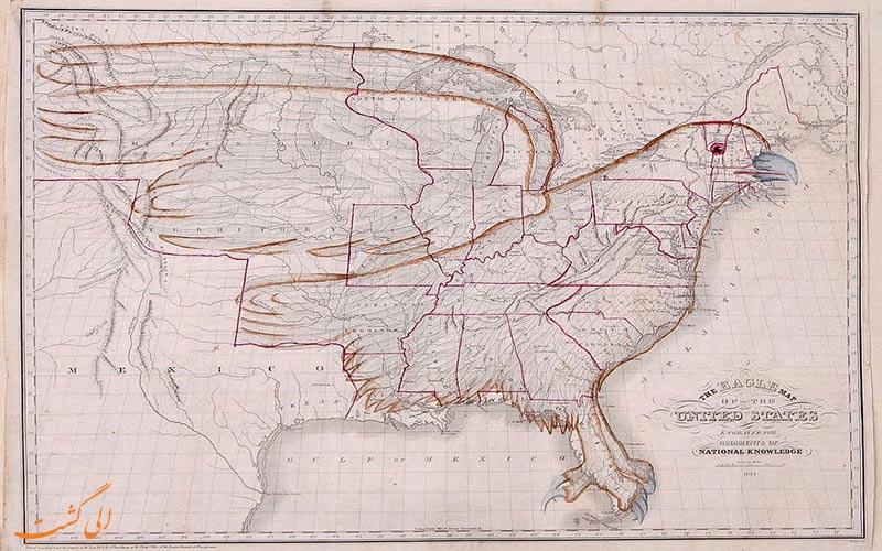 نقشه عقاب آمریکا