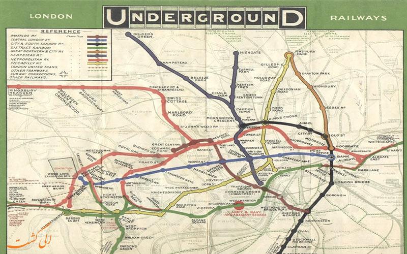 نقشه متروی لندن