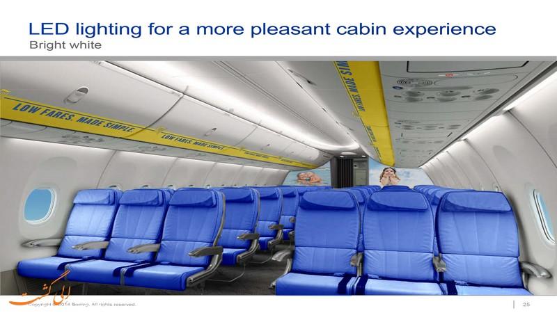 درباره رنگ صندلی های هواپیما