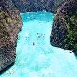 آب های فیروزه ای جزیره فی فی + ویدیو