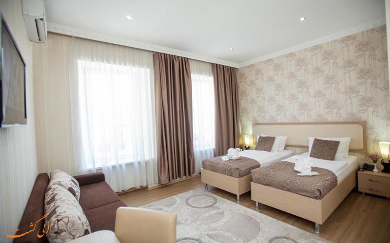 اتاق های هتل روستاولی در تفلیس