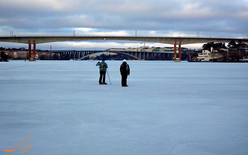 اسکیت روی یخ های استوکهلم