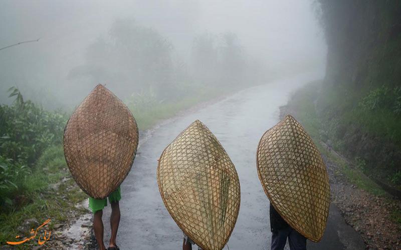 چترهایی از بامبو