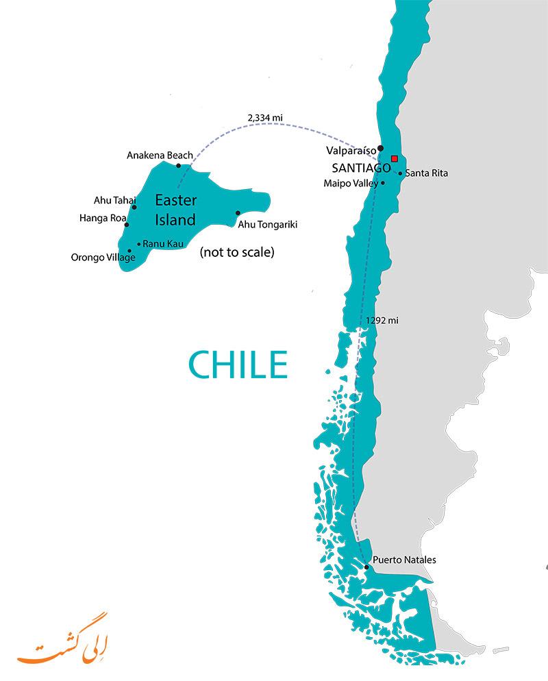 نقشه شیلی