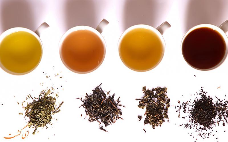 انواع مختلف چای