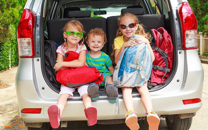 سفر با ماشین با کودکان