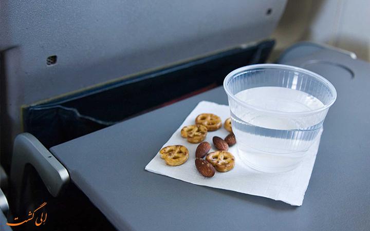 میز غذای هواپیما