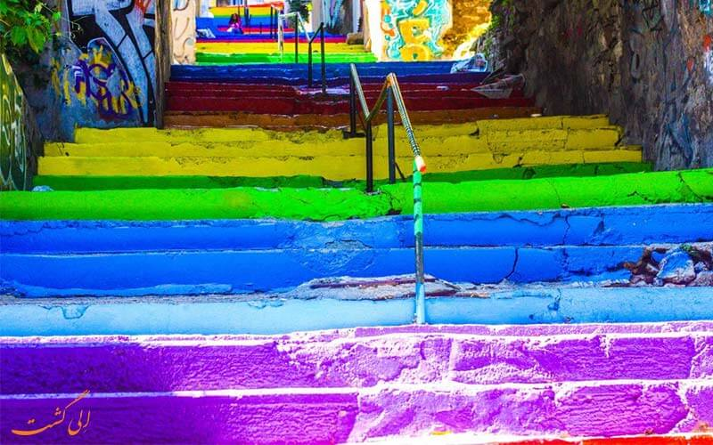پله های رنگین کمان
