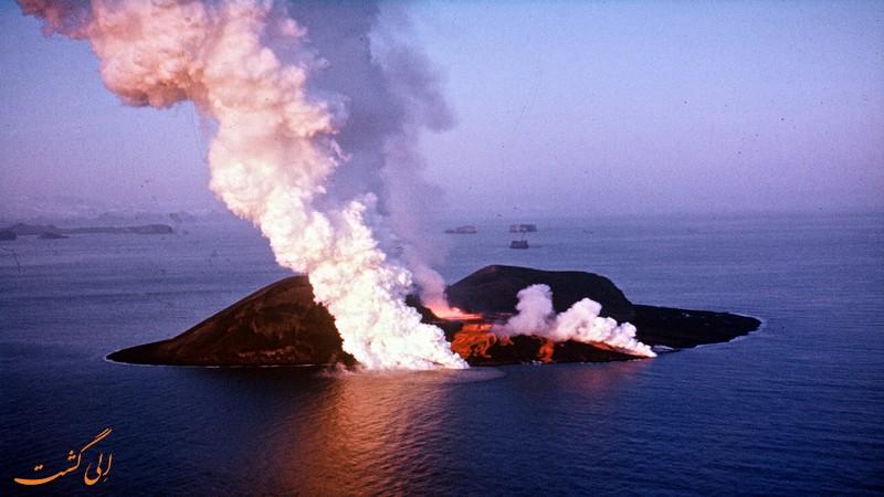 عکس جزیره سورتسی