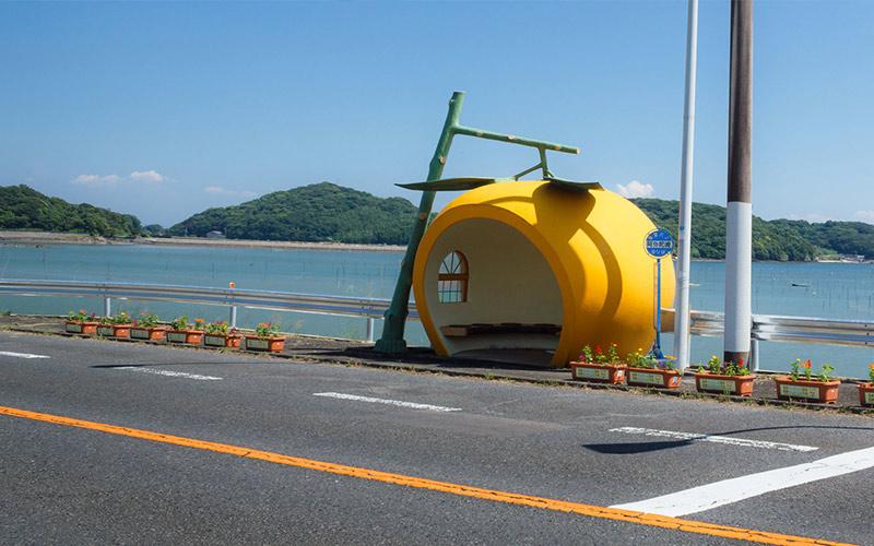 ایستگاه اتوبوس میوه ای در ژاپن