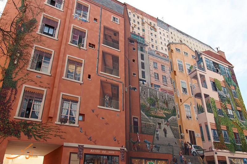 نقاشی های دیواری شهر لیون در فرانسه