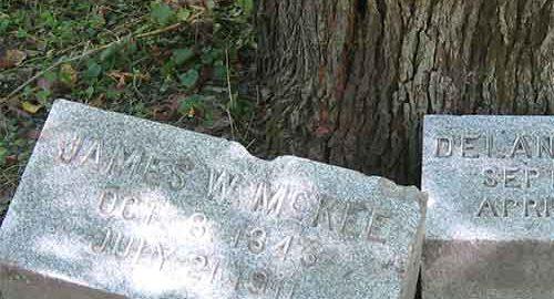 قبری در گورستان بچلر گرو