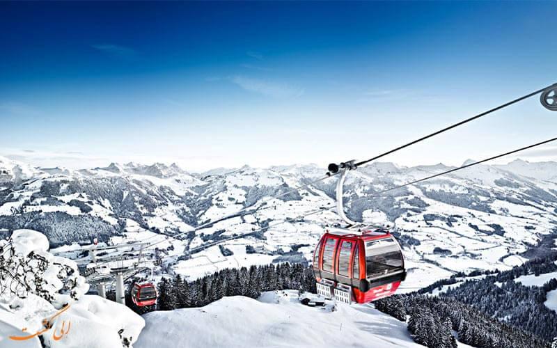 اسکی در کوه های آلپ