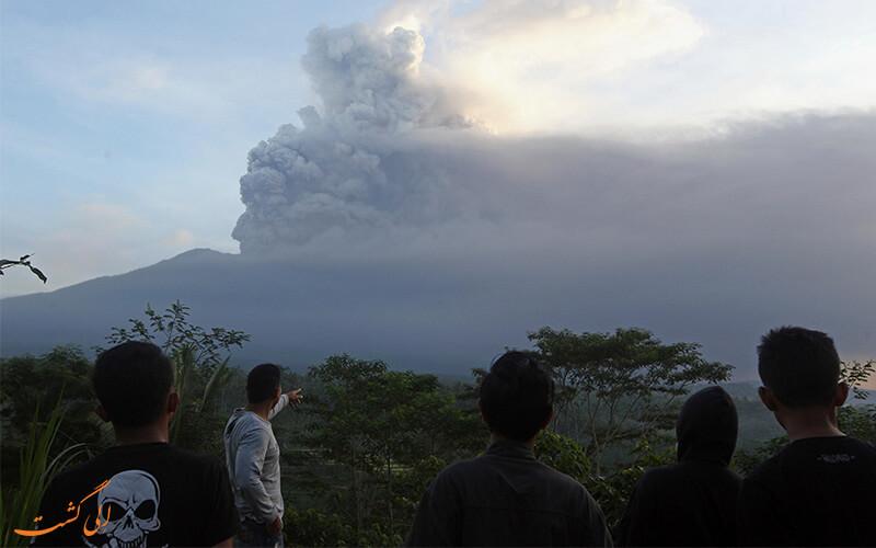 فعال شدن آتشفشان بالی