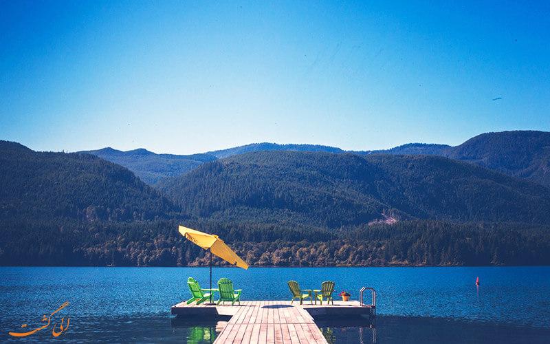 دریاچه اسپراوت در جزیره ونکوور
