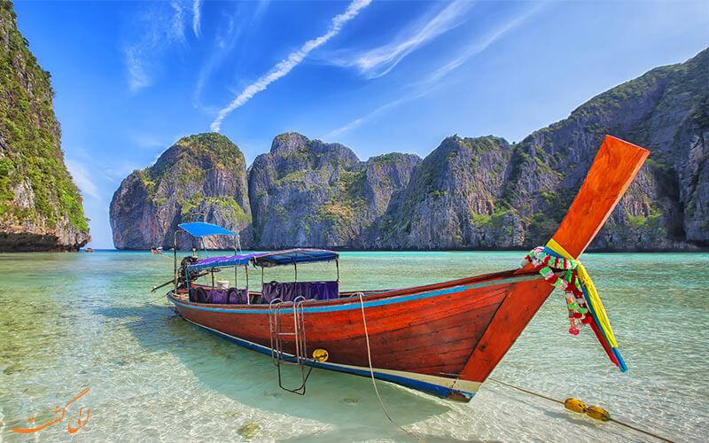 قایق های کشیده جزایر فی فی