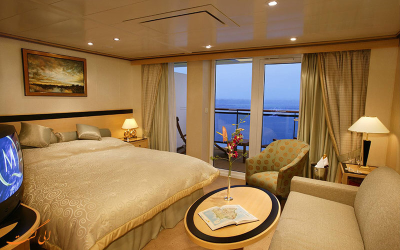 اتاقی در یک کشتی کروز