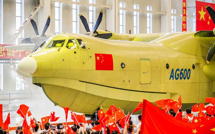 پرواز بزرگ ترین هواپیمای دوزیست