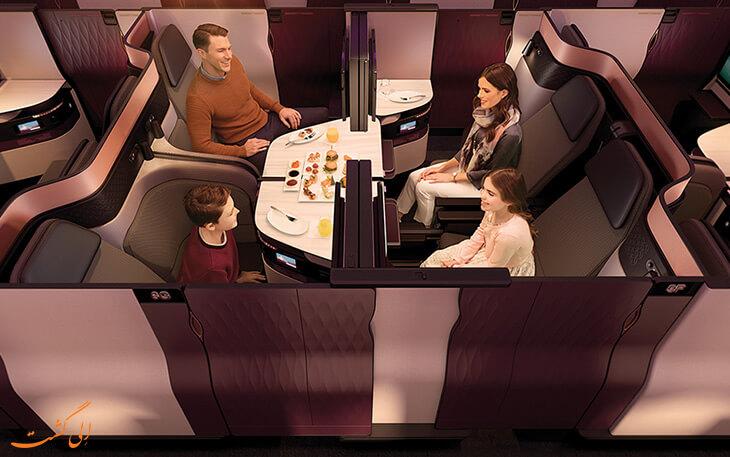 اتاق های خصوصی در هواپیمایی قطر