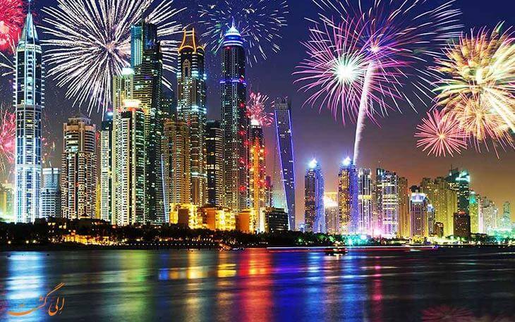 فرودگاه دبی در سال نو