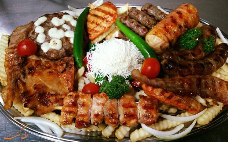 غذا در سفر به بلگراد