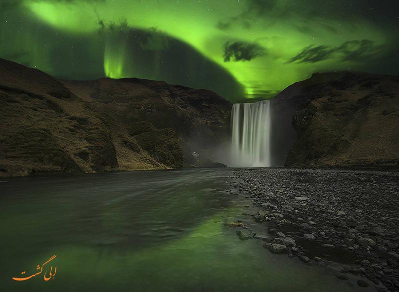 نورهای شمالی در ایسلند
