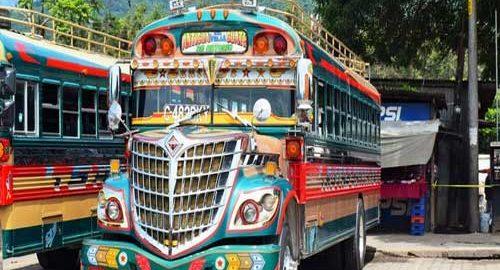 اتوبوس های مرغی گواتمالا