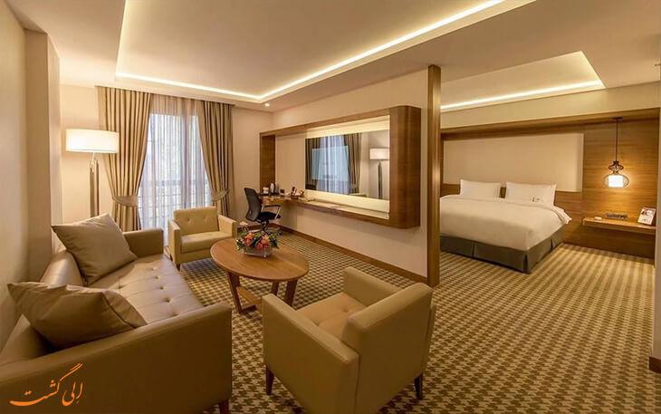 اتاق های هتل آنمون