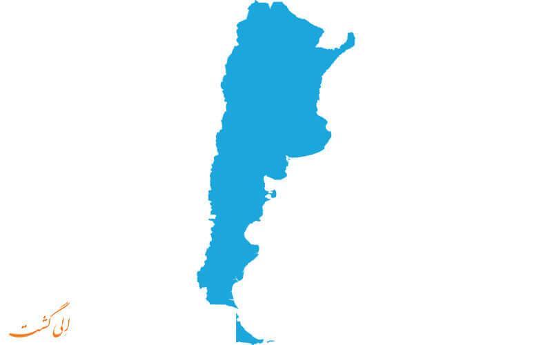 نقشه جغرافیایی آرژانتین