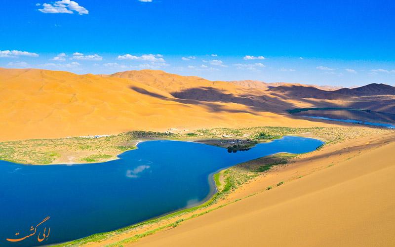 دریاچه های بیابان چین