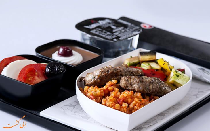 غذا ترکیش ایرلاین