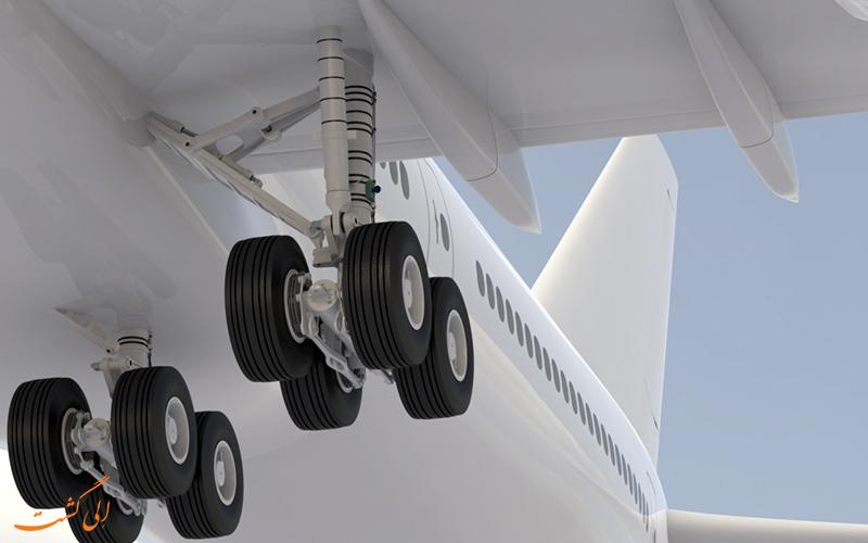 چرخ های فرود هواپیما