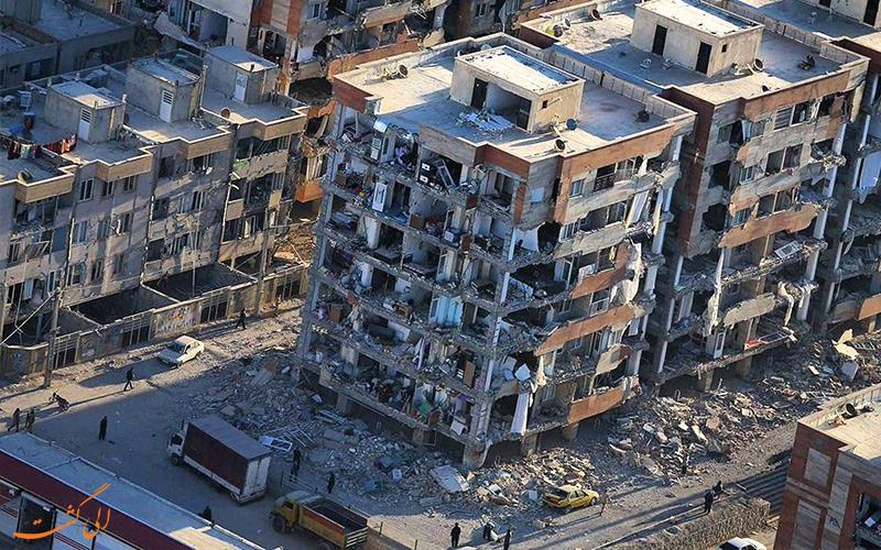 اثر زلزله بر شهر کرمانشاه