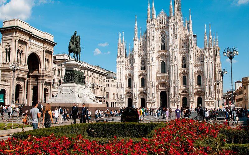 نمایی از شهر میلان