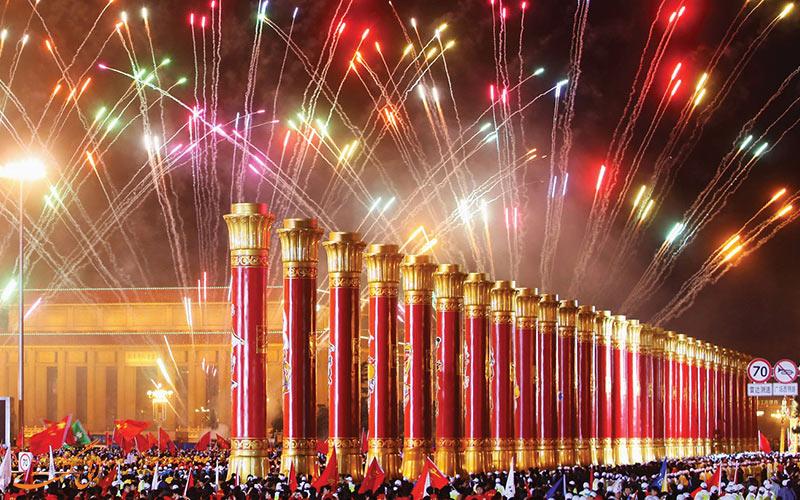 سال نو2018 میلادی در چین