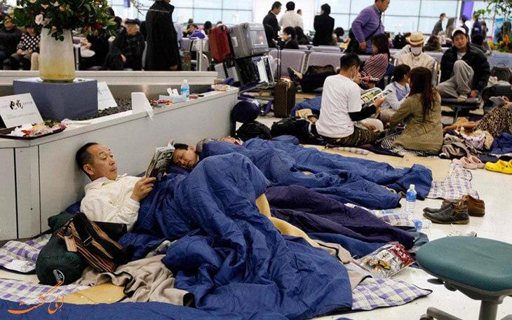 خواب در فرودگاه
