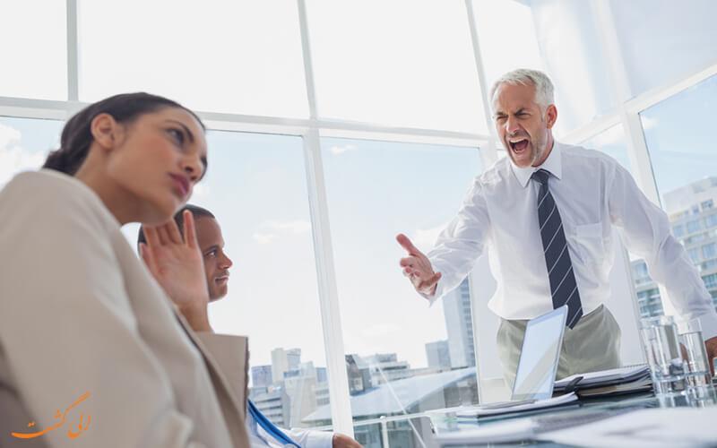هوش هیجانی پایین یک مدیردر برابر کارمندان خود