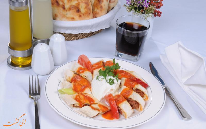 غذا در رستوران سامسون