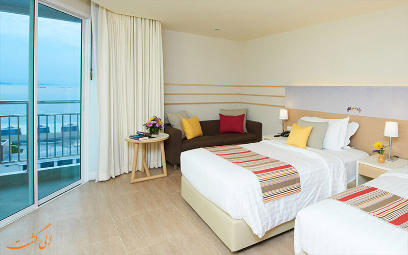 اتاق های دو تخت هتل سی ویو پاتایا